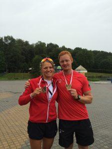 Julia Leiding und Stefan Krüger mit Goldmedaille (Foto: RRC)